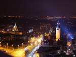 Leipzig bei Nacht, Foto: m.j.-lpz/PIXELIO